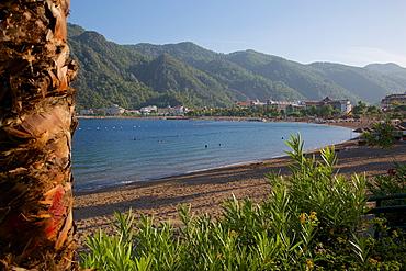 Beach, Icmeler, Marmaris, Anatolia, Turkey, Asia Minor, Eurasia