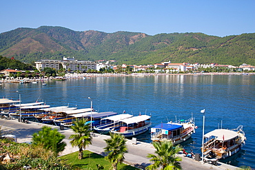 Boats in The Bay, Icmeler, Marmaris, Anatolia, Turkey, Asia Minor, Eurasia