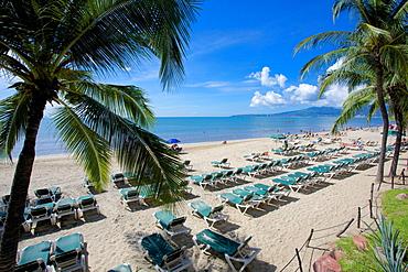Beach scene, Nuevo Vallarta, Nayarit, Mexico, North America