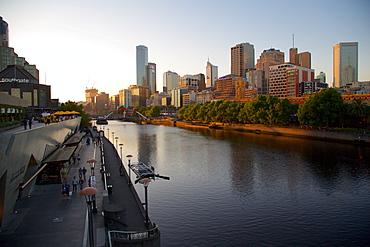 City skyline from Princes Bridge, Melbourne, Victoria, Australia, Pacific