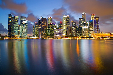 Skyline across Marina bay, Singapore, Southeast Asia