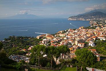 View of Vesuvio and Terrheinian Sea from above Sorrento, Costiera Amalfitana (Amalfi Coast), UNESCO World Heritage Site, Campania, Italy, Europe