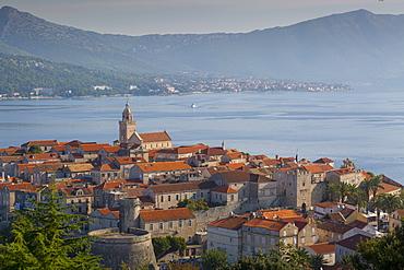 View of Korcula Town, Korcula, Dalmatia, Croatia, Europe