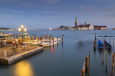 View to San Giorgio Maggiore, Venice, UNESCO World Heritage Site, Veneto, Italy, Europe