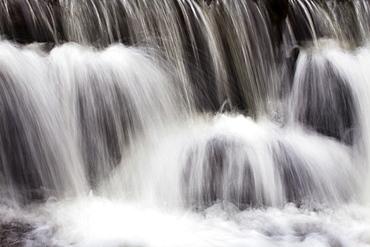 Waterfall in Scaleber Beck below Scaleber Force, Settle, North Yorkshire, Yorkshire, England, United Kingdom, Europe