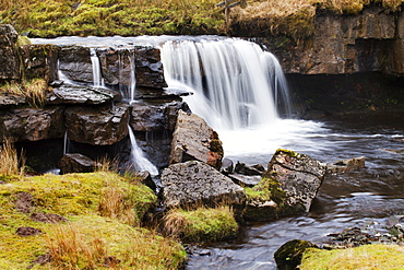 Clough Force on Grisedale Beck near Garsdale Head, Yorkshire Dales, Cumbria, England, United Kingdom, Europe