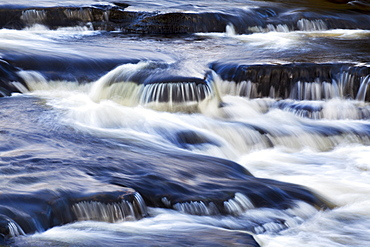 Waterfall in the Clough River, Garsdale, Yorkshire Dales, Cumbria, England, United Kingdom, Europe