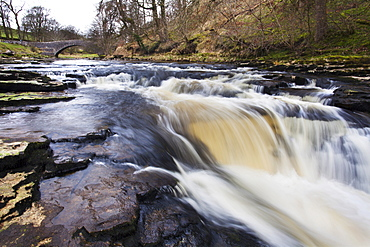 StainforthBridge and Stainforth Force on the River Ribble, Yorkshire Dales, Yorkshire, England, United Kingdom, Europe