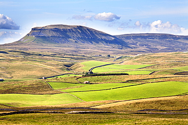 Pen Y Ghent from above Langcliffe near Settle, Yorkshire, England, United Kingdom, Europe