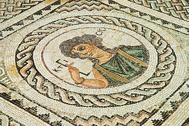 Roman mosaic, Kourion (Curium), Limassol, Cyprus, Europe