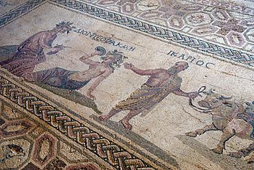 Roman mosaic, Archaeological Park, Paphos, Cyprus, Europe