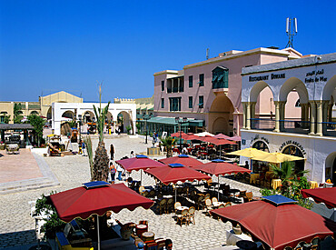 Restaurants inside the Medina, Yasmine Hammamet, Cap Bon, Tunisia, North Africa, Africa