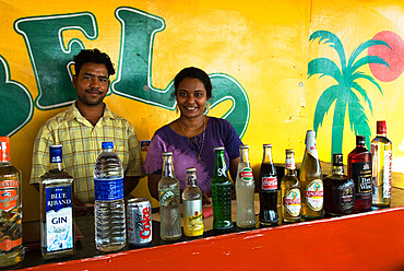 Beach Bar, Benaulim, Goa, India, Asia
