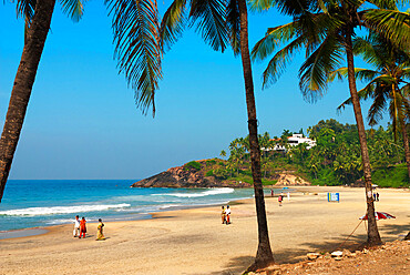 Lighthouse Beach, Kovalam, Kerala, India, Asia