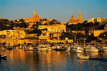 Mgarr harbour, Gozo, Malta, Mediterranean, Europe