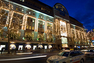 Ka De Ve Department Store at Christmas, Berlin, Germany, Europe