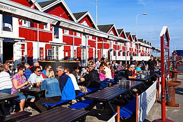 Harbourside seafood restaurants, Skagen, Jutland, Denmark, Scandinavia, Europe