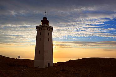 Rubjerg Knude Fyr (lighthouse) buried by sand drift, Lokken, Jutland, Denmark, Scandinavia, Europe