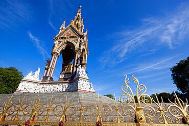 The Albert Memorial, Kensington Gardens, London, England, United Kingdom, Europe