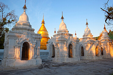 The World's largest book, stupas housing 729 text-inscribed marble slabs, Mandalay, Myanmar (Burma), Asia
