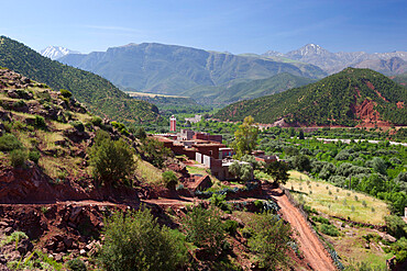 Berber village, Ourika Valley, Atlas Mountains, Morocco, North Africa, Africa