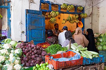 Fruit and vegetable market in the souk inside Medina, Essaouira, Atlantic coast, Morocco, North Africa, Africa