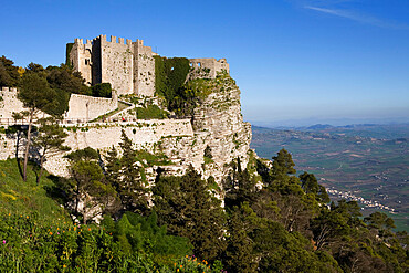 Castello di Venere, Erice, Sicily, Italy, Europe
