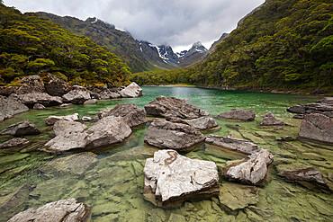 Lake Mackenzie, Routeburn Track, Fiordland National Park, UNESCO World Heritage Site, South Island, New Zealand, Pacific