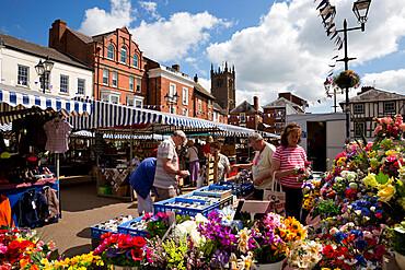 Ludlow market, Castle Square, Ludlow, Shropshire, England, United Kingdom, Europe