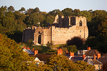 Oystermouth Castle, The Mumbles, Gower Peninsula, Swansea, West Glamorgan, Wales, United Kingdom, Europe