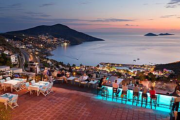 Bar and restaurant of Mediteran Hotel, Kalkan, Lycia, Antalya Province, Mediterranean Coast, Southwest Turkey, Turkey, Asia Minor, Eurasia