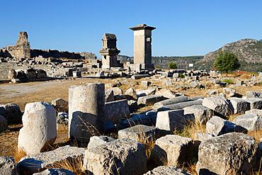 Harpy monument and Lycian tomb, Xanthos, Kalkan, Lycia, Anatolia, Turkey, Asia Minor, Eurasia