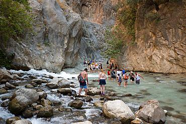 Saklikent Gorge, near Fethiye, Mugla Province, Lycia, Mediterranean Coast, Southwest Turkey, Anatolia, Turkey, Asia Minor, Eurasia