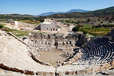 Amphitheatre and ruins, Patara, near Kalkan, Lycia, Antalya Province, Mediterranean Coast, Southwest Turkey, Anatolia, Turkey, Asia Minor, Eurasia