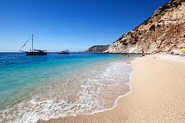 Kaputas beach, near Kalkan, Lycia, Antalya Province, Mediterranean Coast, Southwest Turkey, Anatolia, Turkey, Asia Minor, Eurasia