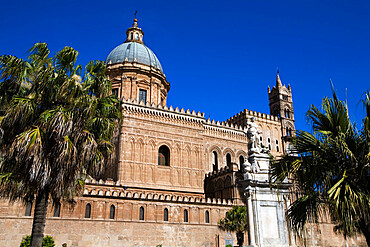 Exterior of the Norman Cattedrale (cathedral), Palermo, Sicily, Italy, Europe