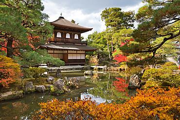 The Silver Pavilion, Buddhist Temple of Ginkaku-ji, Northern Higashiyama, Kyoto, Japan, Asia