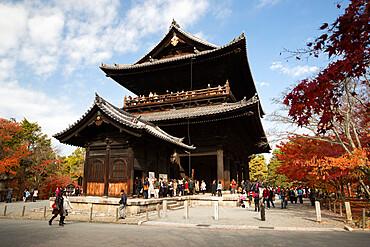 San-mon gate, Buddhist Temple of Nanzen-ji, Northern Higashiyama, Kyoto, Japan, Asia