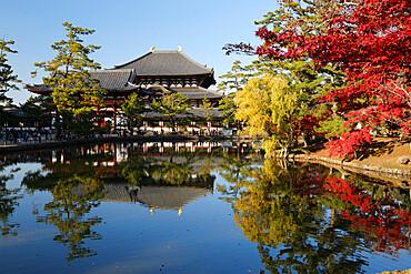 The Buddhist Temple of Topdai-ji, UNESCO World Heritage Site, Nara, Kansai, Japan, Asia
