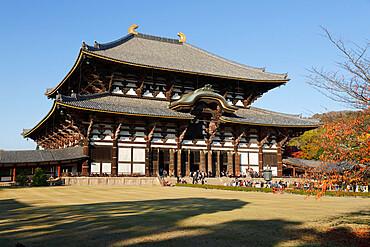 The Buddhist Temple of Todai-ji, UNESCO World Heritage Site, Nara, Kansai, Japan, Asia