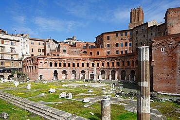 Ruins of Trajan's market, Trajan Forum (Foro Traiano), UNESCO World Heritage Site, Rome, Lazio, Italy, Europe