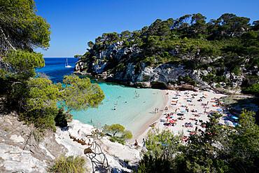 Cala Macarelleta, near Cala Galdana, South West Coast, Menorca, Balearic Islands, Spain, Mediterranean, Europe