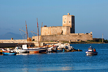 The harbour, Trapani, Sicily, Italy, Mediterranean, Europe