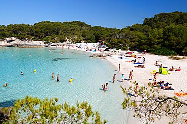 Cala en Turqueta, south west Coast, near Ciutadella, Menorca, Balearic Islands, Spain, Mediterranean, Europe