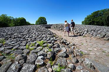 Kiviksgraven Bronze Age shield-like cairn grave, Kivik, Skane, South Sweden, Sweden, Scandinavia, Europe