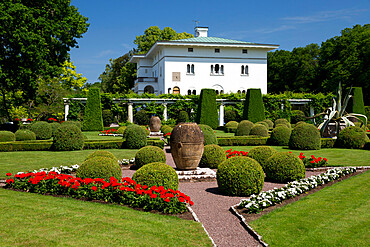 Royal summer residence of Solliden Palace and gardens, Borgholm, Oland, Southeast Sweden, Sweden, Scandinavia, Europe
