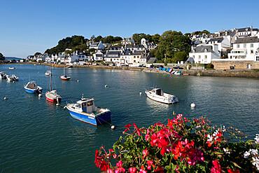 Fishing village beside Riviere de Morlaix, Le Dourduff en Mer, Finistere, Brittany, France, Europe