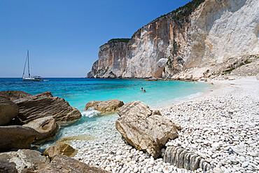 Erimitis beach on west coast, Paxos, Ionian Islands, Greek Islands, Greece, Europe