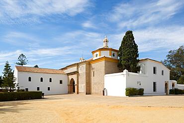 La Rabida Monastery where Columbus stayed before historic voyage of 1492, La Rabida, Huelva, Costa de la Luz, Andalucia, Spain, Europe