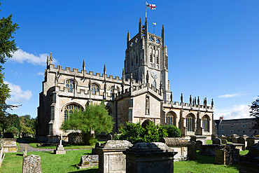 St. Mary's Church, Fairford, Cotswolds, Gloucestershire, England, United Kingdom, Europe